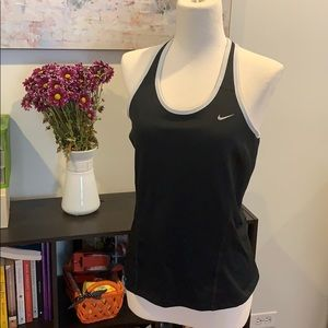 Black and white Nike Dri-Fit athletic top